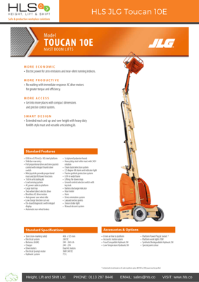 JLG Toucan 10E spec sheet