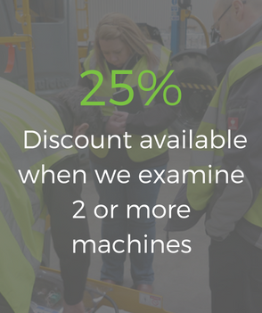 Discount available when we examine 2 or more machines
