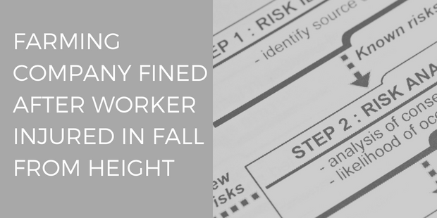 Farming company fined after worker injured in fall from height