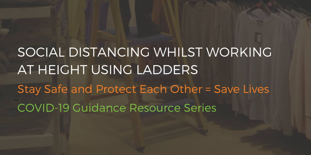 social distancing and ladders