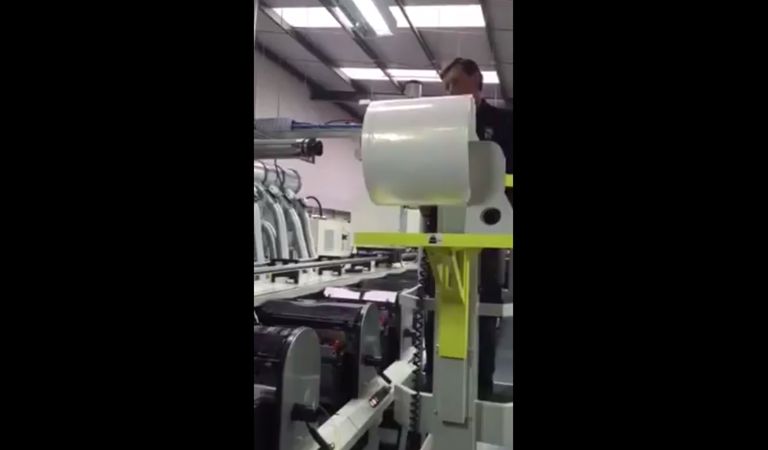 HLS Hugo lift with print roll transfer device fitted - video