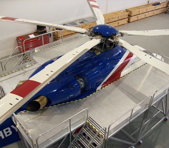 HLS-brand bespoke access platform for helicopter maintenance