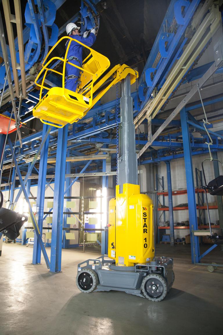 Haulotte Star 10 in industrial unit