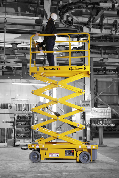 Haulotte Optimum 8 small electric scissor lift