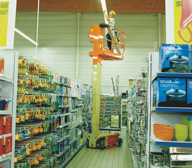 JLG 1230es electric mast lift general maintenance in retail environment