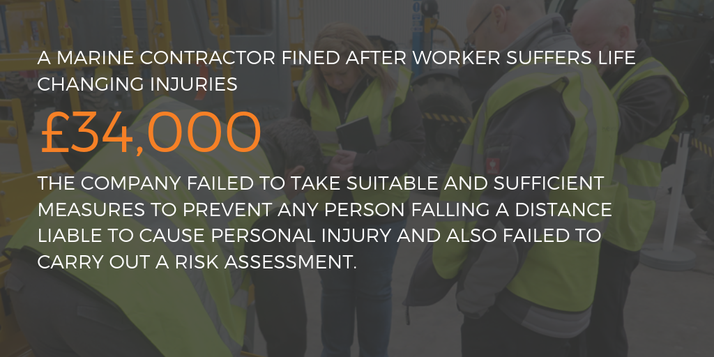 Marine contractor fined after worker suffers life changing injuries