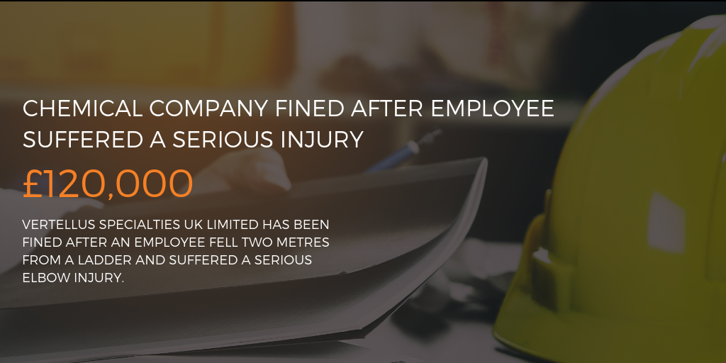 CHEMICAL COMPANY FINED AFTER EMPLOYEE SUFFERED A SERIOUS INJURY