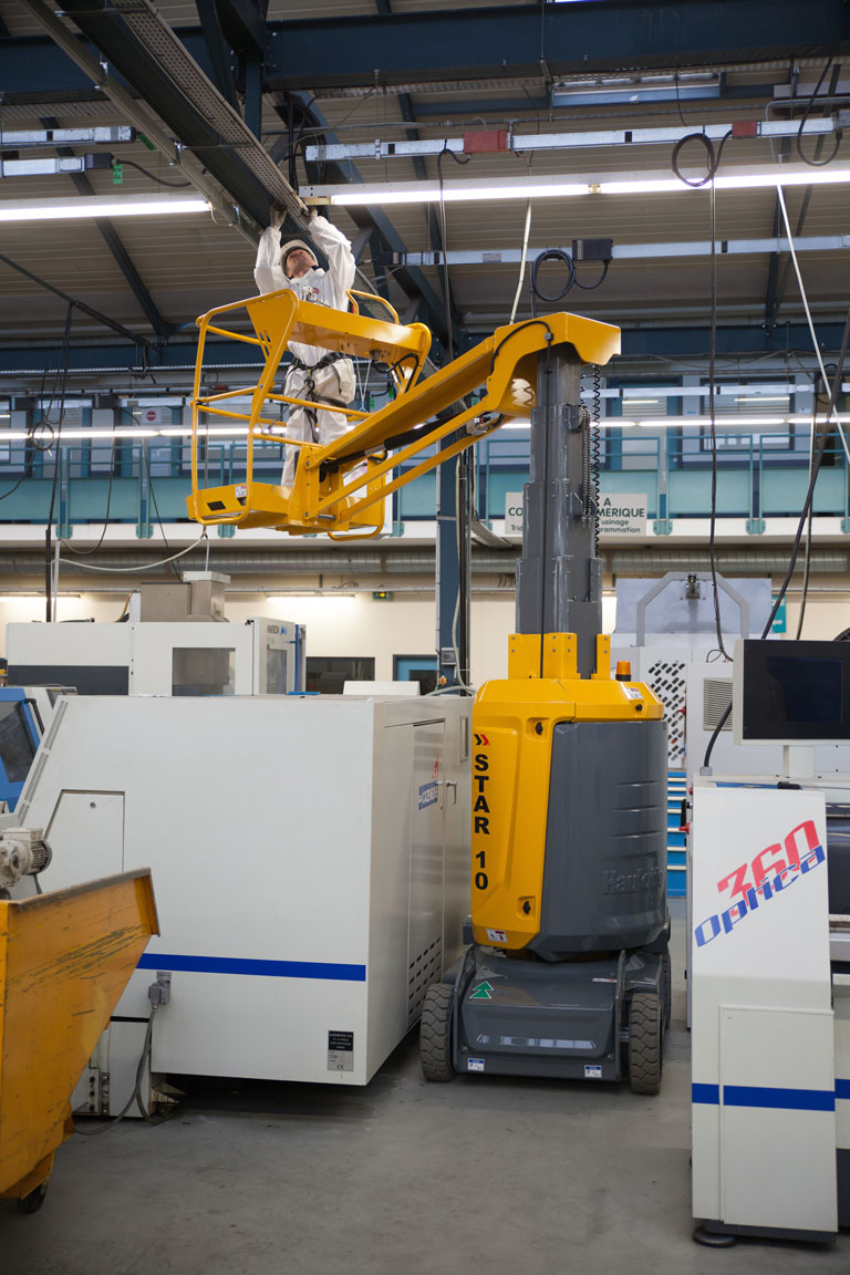 Star 10 working over plant equipment in factory