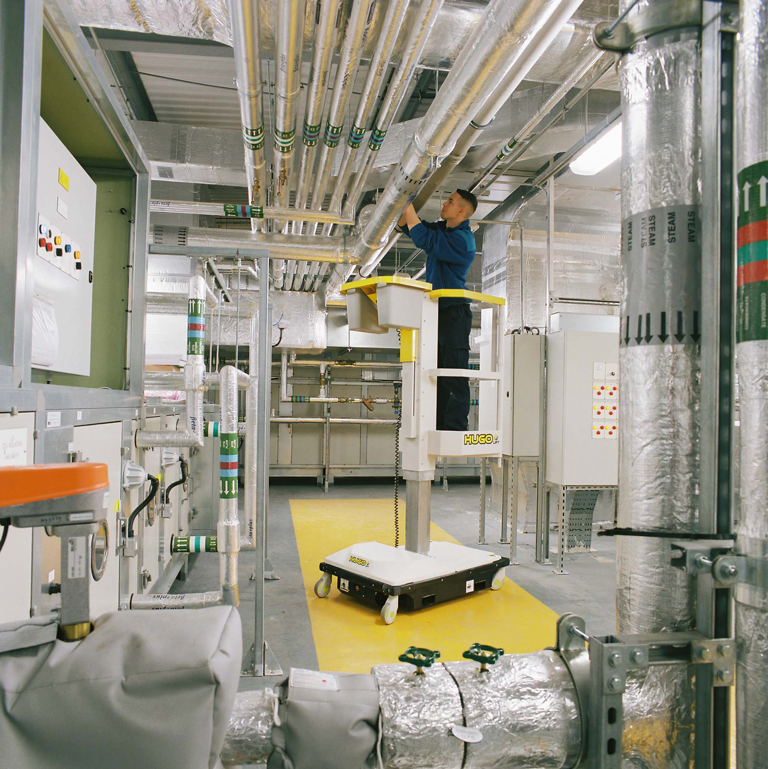 Hugo PAV working in a plant room