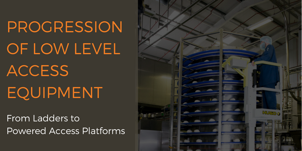 The progression of low level access equipment from ladders to powered access platforms