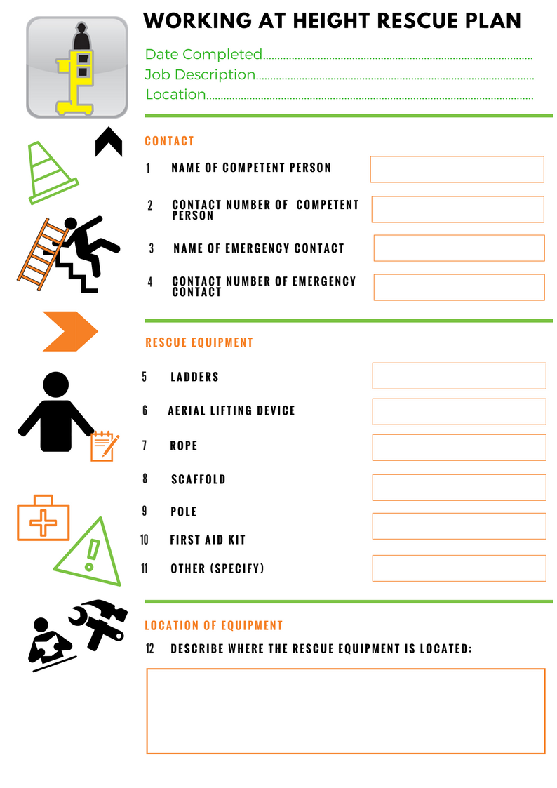 work at height rescue plan