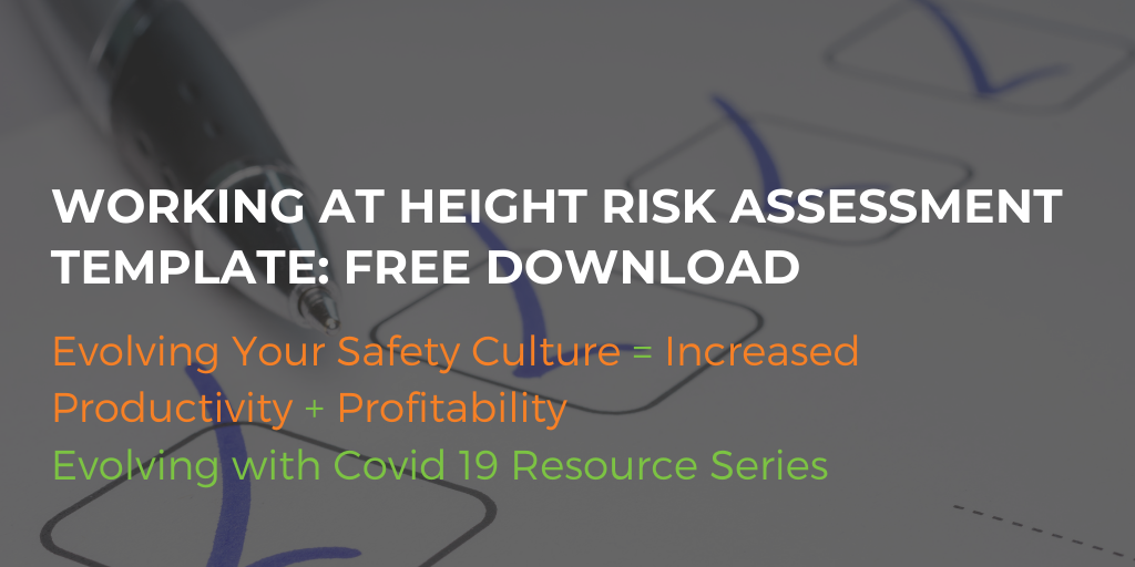Working At Height Risk Assessment Template: Free Download